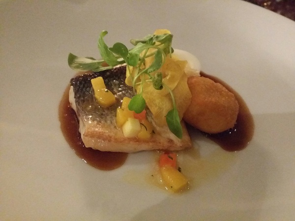 adobo-style mesquite-grilled sea bass, which were matched with the Glenfarclas 15 years