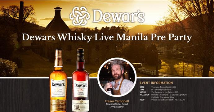 Dewars Whisky Live Manila Pre Party