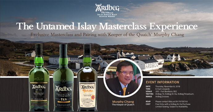 Exclusive Ardbeg Masterclass with Murphy Chang